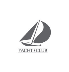 graphic yacht club sailing sport logo with wind vector image vector image