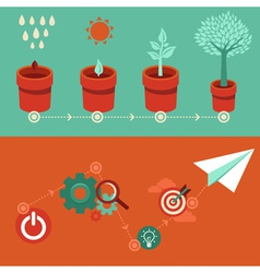 strategy growth vector image vector image