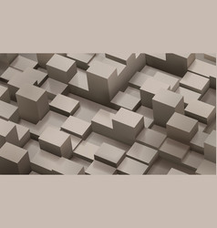 abstract background of cubes and parallelepipeds vector image vector image