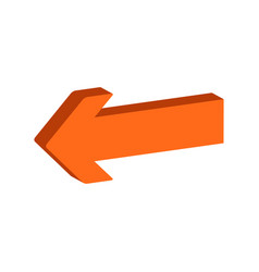 Arrow symbol flat isometric icon or logo 3d style vector
