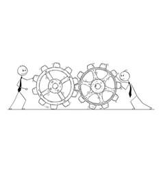 conceptual cartoon of teamwork vector image