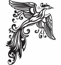 decorative bird vector image