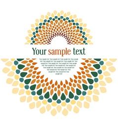 design textual card vector image vector image