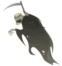grim reaper with scythe vector image vector image