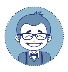 Happy showman or stage director in glasses vector