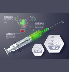 medical science infographics vector image vector image