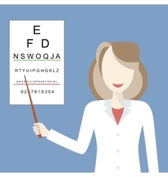 Doctor Woman Ophthalmologist vector image vector image