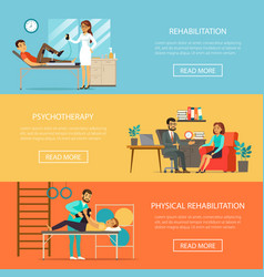 medical therapy horizontal banners vector image vector image