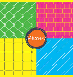 mosaic diagonal lines and grid textures vector image vector image