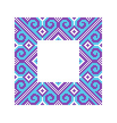 pattern for embroidery cross vector image
