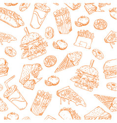 seamless sketch background retro vector image vector image