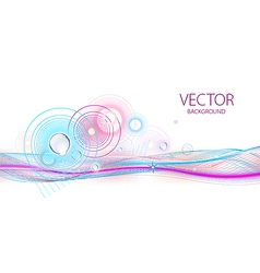 abstract wave lines background vector image vector image