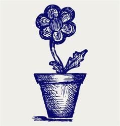 Daisies in pots vector image vector image