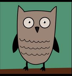 owl cute in vector image
