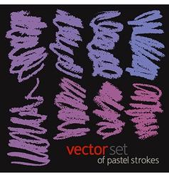 Pastel strokes set 2 vector image