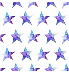Seamless pattern of colorful watercolor star icon vector