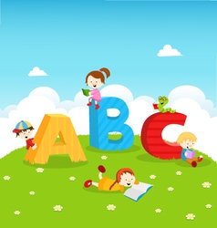 ABC KIDS vector image