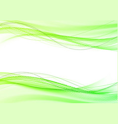 abstract bright modern green elegant graphic vector image