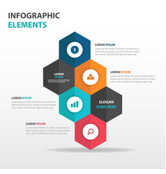 Abstract hexagon business infographics elements vector