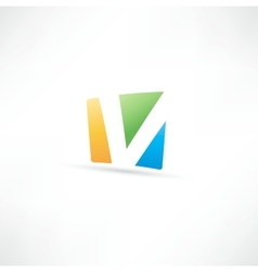 Abstract icon based on letter v vector