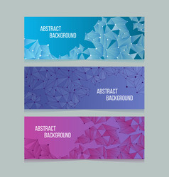 abstract network digital cells banners vector image