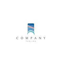 air flights abstract blue logo design vector image