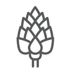 Artichoke line icon vegetable and diet vector
