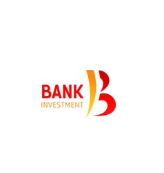 b letter icon for bank investment vector image