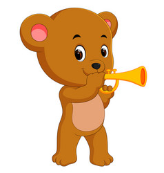 bear playing saxophone vector image