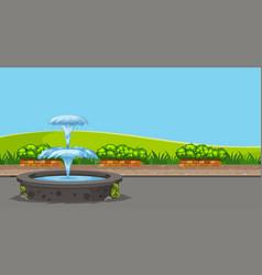 Beautiful outdoor landscape background vector