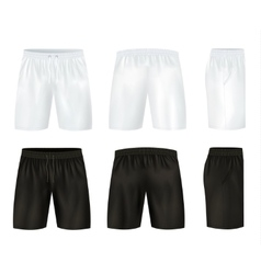 Black And White Shorts Icon Set vector image