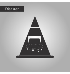 Black and white style icon snow avalanche vector