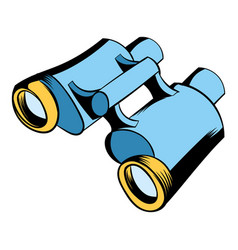 black binoculars icon cartoon vector image vector image