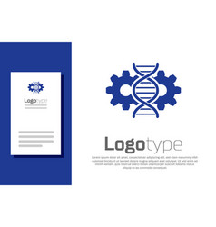 Blue gene editing icon isolated on white vector