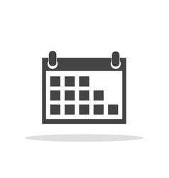 calendar icon on white background flat style vector image