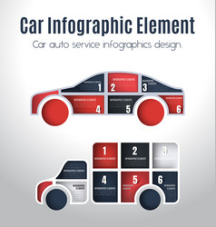 car infographics design vector image