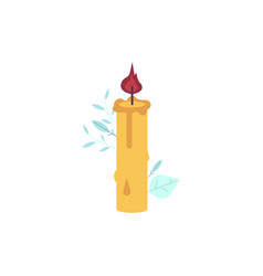 Cartoon candles icon wax lit romantic vector
