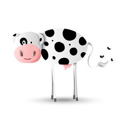 Cartoon design of happy farm cow vector image