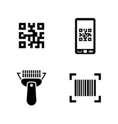 check code simple related icons vector image