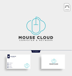 Cloud mouse logo template icon element vector