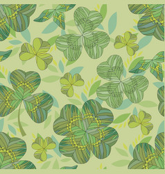 Clover background seamless pattern clover vector