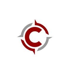 Compass letter c logo icon design vector