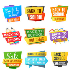 creative back to school advertising banners vector image