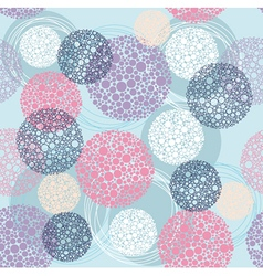 Cute seamless polka dot circle pattern vector image