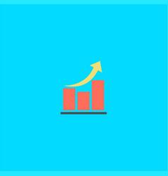 diagrams and letter m logo design symbol dan icon vector image