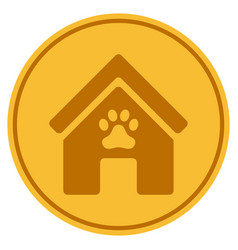 Doghouse gold coin vector