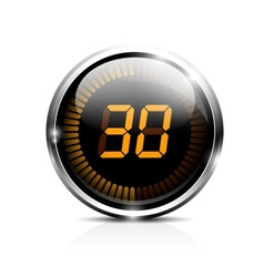 Electronic timer 30 seconds vector
