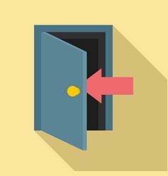 Escape door icon flat style vector