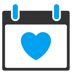 Favourite Heart Calendar Day Toolbar Icon vector