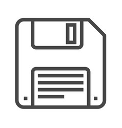 Floppy disk line icon vector
